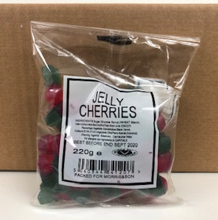 Unbranded Brown Jelly Cherry Pre Pack Bag Bag 24 x 220g