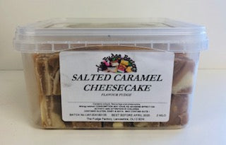 Fudge Factory Salted Caramel Cheesecake Fudge Bulk Tub 1 x 2kg