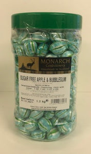 Monarch Confectionery Sugar Free Apple & Bubblegum 1 x 1.2kg