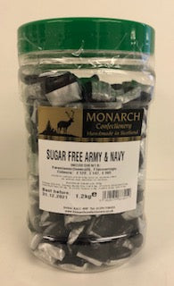 Monarch Confectionery Sugar Free Army & Navy 1 x 1.2kg
