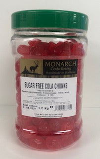 Monarch Confectionery Sugar Free Cola Chunks 1 x 1.2kg