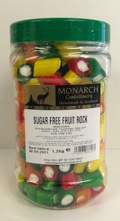 Monarch Confectionery Sugar Free Fruit Rock 1 x 1.2kg