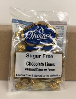 Thornes Sugar Free Chocolate Limes Pre-Packs 12 x 100g