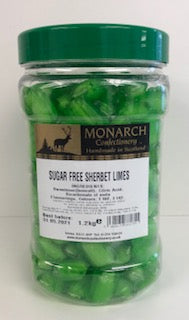 Monarch Confectionery Sugar Free Sherbet Limes 1 x 1.2kg