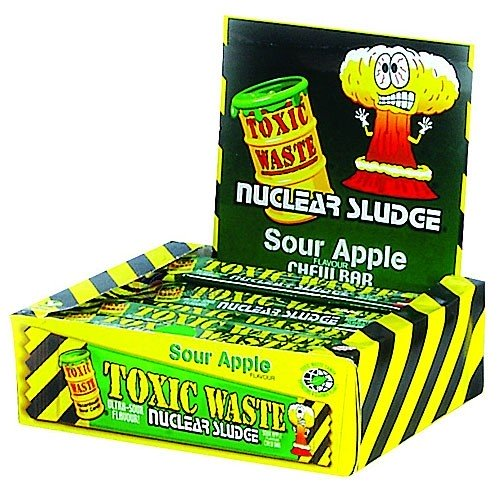 Toxic Waste Sour Apple Chew Bars 50pk