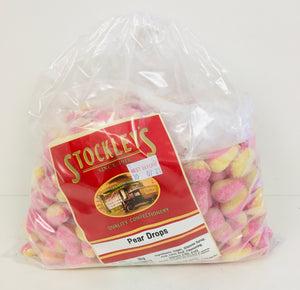 Stockleys Unwrapped Sugared Pear Drops 3kg Bag