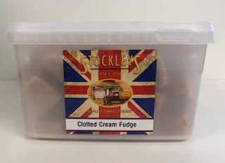 Stockley's Clotted Cream Fudge Bulk Tub 1 x 2kg