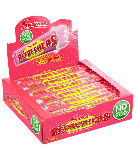 Swizzels Matlow Strawberry Refresher Bars 60 x 18g