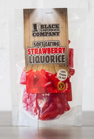 Black Liquorice Company Soft Eating Strawberry Flavour Pre-Pack  6 x 180g