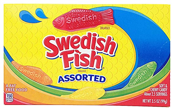 Swedish Fish Asst 12 x 99g Theater Boxes