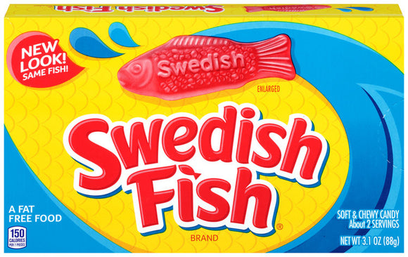 Swedish Fish Red Theater Boxes 12 x 88g