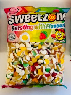 Sweetzone Premium Fruity Hearts 1kg Bag