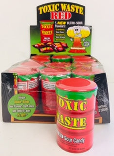 Toxic Waste Cans Red 12pk