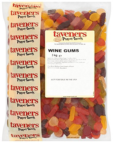 Tangerine Wine Gums 3kg Bag