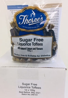Thornes Sugar Free Liquorice Pre-Packs 12 x 100g
