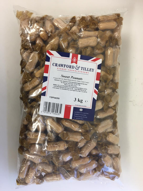 Crawford & Tilley Wrapped Sweet Peanuts 3kg Bag