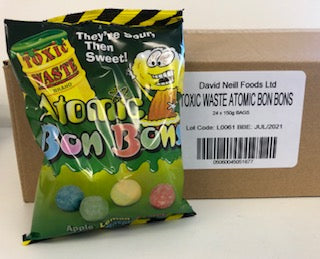 Toxic Waste Atomic Bon Bons Pre Packs 24 x 150g