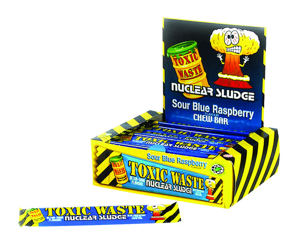 Toxic Waste Sour Blue Raspberry Chew Bars 50pk