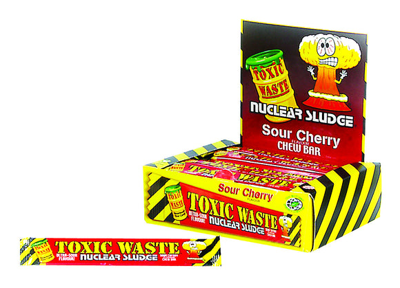 Toxic Waste Sour Cherry Chew Bars 50pk