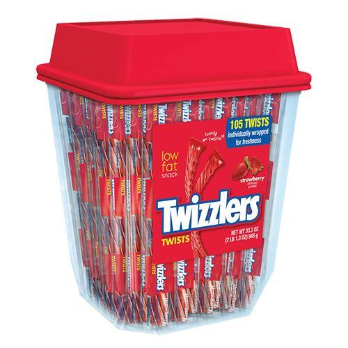 Twizzlers Strawberry Straws Tub 105 x 8g