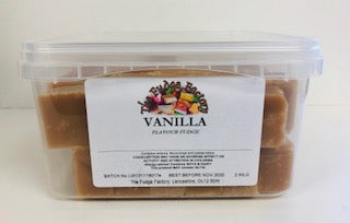 Fudge Factory Vanilla Fudge Bulk Tub 1 x 2kg