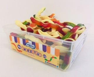 Vidal Jelly Snakes Tub 60 x 10p