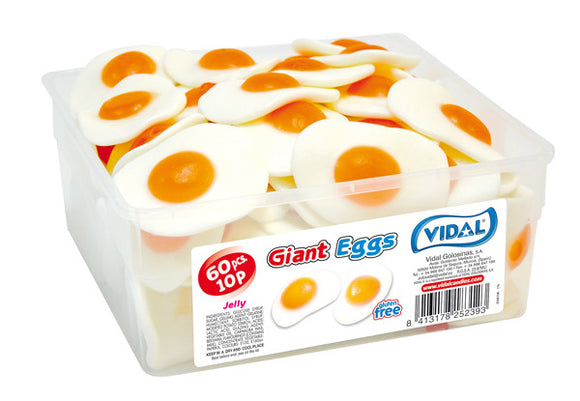 Vidal Giant Fried Eggs Tub 60 x 10p