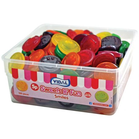 Vidal Wine Gum Smiles Tubs 120 x 5p
