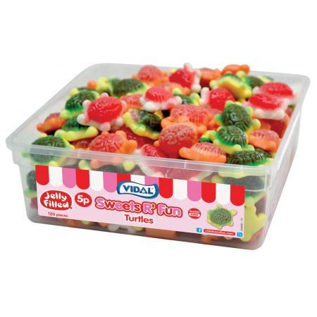 Vidal Jelly Filled Turtles Tubs 120 x 5p