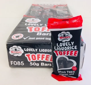 Walkers Nonsuch Lovely Liquorice Toffee 50g Bar 1 x 24pk