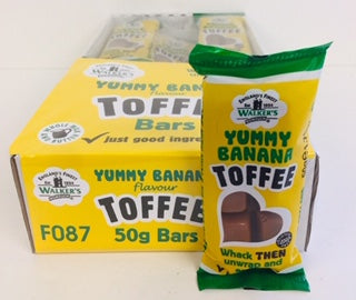 Walkers Nonsuch Yummy Banana Toffee 50g Bar 1 x 24pk