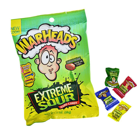 Warheads Extreme Sour 12 x 2oz Bags