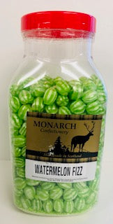 Monarch Confectionery Watermelon Fizz Balls Jar 1 x 3kg