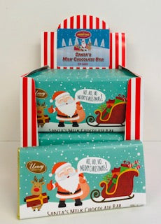 Santa,s Milk Chocolate  50g Bar 1 x 24pk