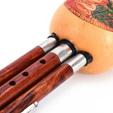 Performance Level Traditional Chinese Sandalwood Hulusi Cucurbit Three-tone Flute