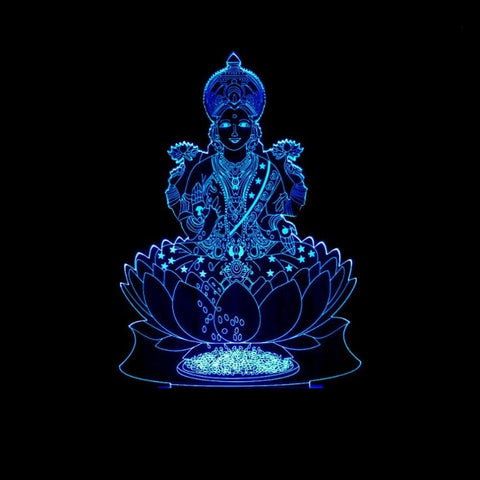 Lakshmi India God of wealth LED lamp