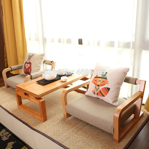 Japanese Tatami  Meditation Chairs and Table