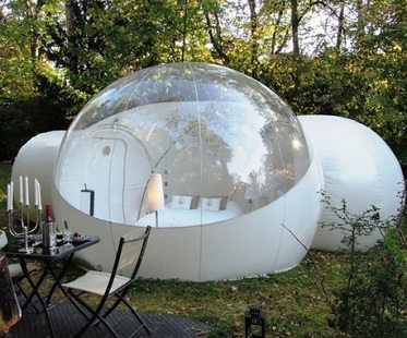 Crystal Ball Bubble tent with available multi-room model