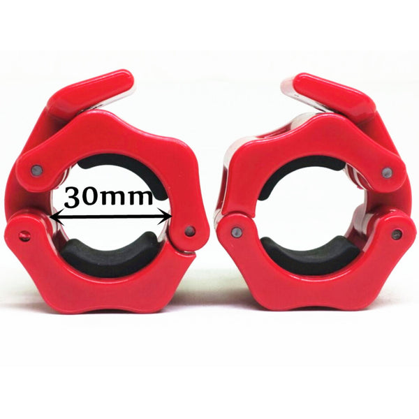 "1 Pair Diameter 1.2""  (30mm)Weight Lifting Dumbbell Collar Olympic Barbell Spinlock Clips Gym CrossFit Fitness Clamps Red"