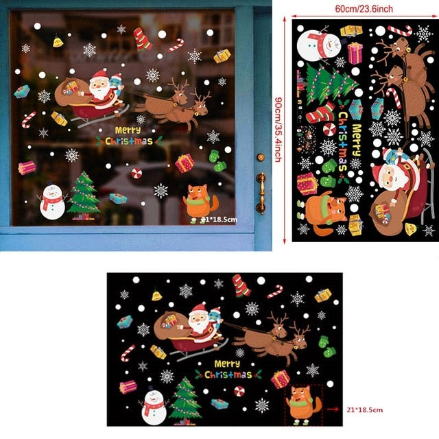 2020 Merry Christmas Wall Stickers Window