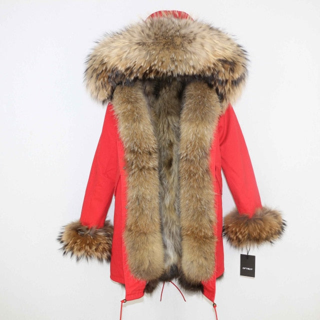 OFTBUY Winter Jacket Women Long Parka