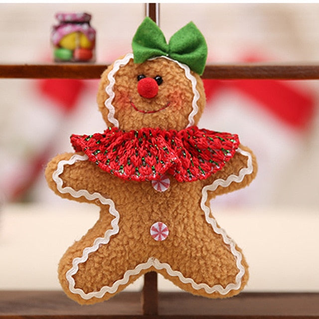 Christmas Gingerbread Man Pendants Ornaments Chrismas