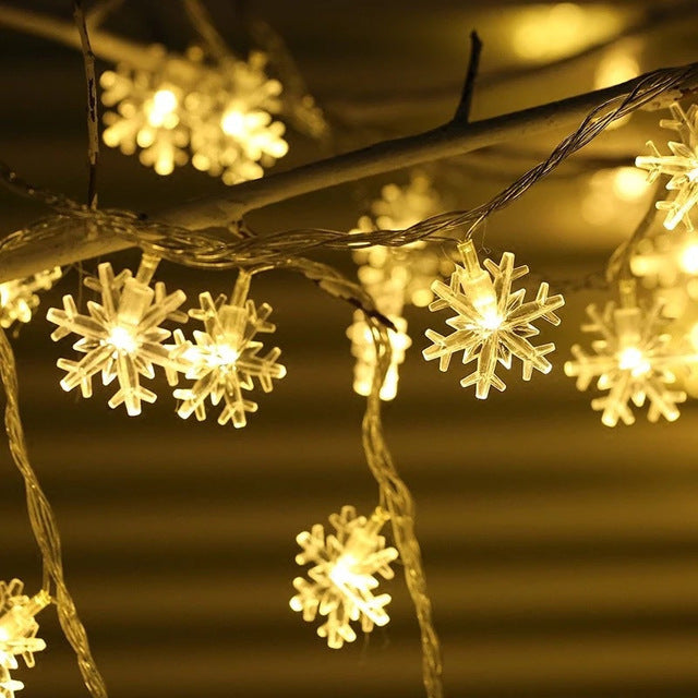 Christmas Home Decoration 3m New Year 2020 Snowflake String Lights AA Battery New Year Navidad Chrismas Natal NewYear Christmas