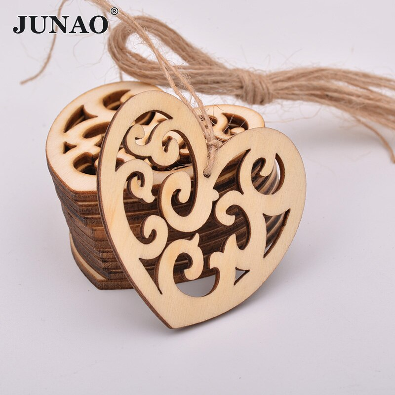 JUNAO 59mm Heart Shape Chrismas Decoration