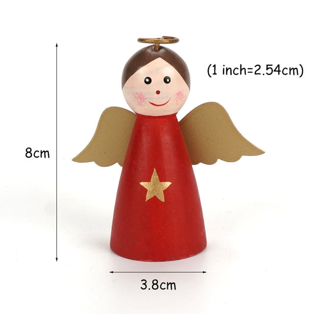 New Chrismas decorations 1pc wooden angel red