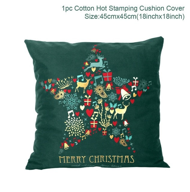 FENGRISE Merry Christmas Pillow Case Xma