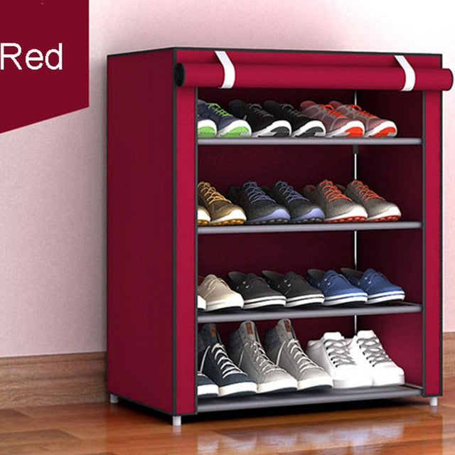 Non-woven Fabric Storage Shoe Rack Hallway