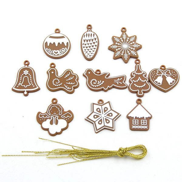 11PCS/Set DIY PVC Soft Rubber Gingerbread Christmas