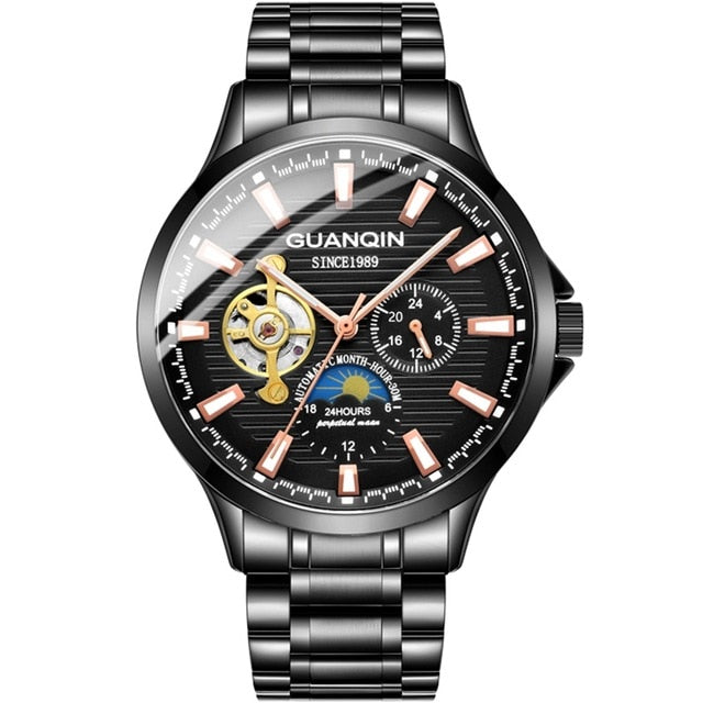 GUANQIN business watch men Automatic Luminous