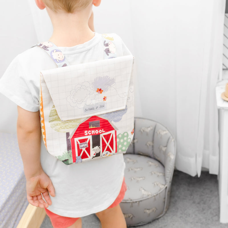 Toddler Backpack - Barnyard Friends-Backpack-Scribble & Sew
